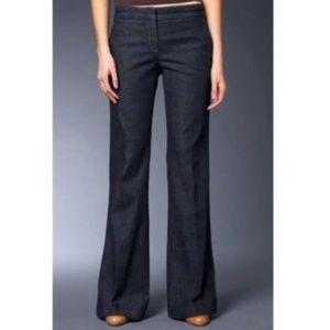 Theory Mid Rise Flare Jeans Dark Denim